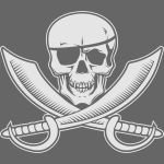 Jolly Rogers Pirate Flag with Skull and Swords