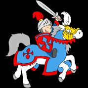 Boy Knight on a Horse