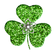 Glitter Shamrock And Flower