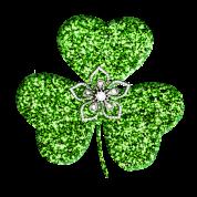 Glitter Shamrock And Flower