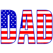 Dad Flag Text