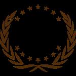 Guirlande étoiles, équipe, couronne sportif chef