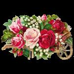 Vintage Rose Cart