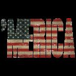 Vintage Distressed US Flag 'MERICA