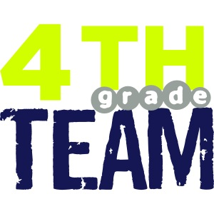 Bold 4th Grade Team Teacher T-Shirts