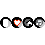 i_love_house_music_buttons_rectangle