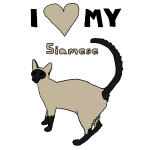 i heart my siamese