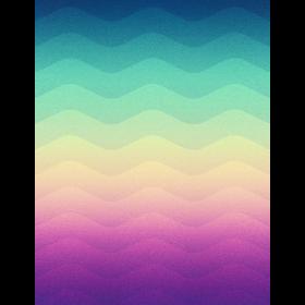 Minimal Geometry Waves (Rainbow) - Phone Case