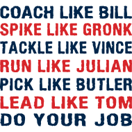 Design ~ Coach like Bill, Spike like