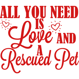 Love and a rescued dog