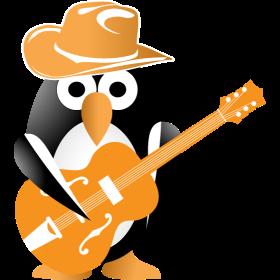 Penguin guitarist