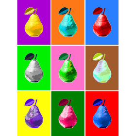 Pop Art Pear