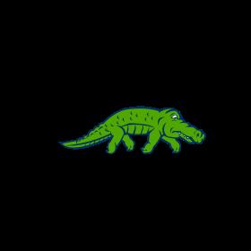 Anxious Alligator Tiptoing Retro