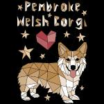Geometric Pembroke Welsh Corgi