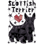 Geometric Scottish Terrier