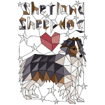 Geometric Shetland Sheepdog