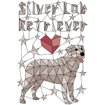 Geometric Silver Lab Retriever