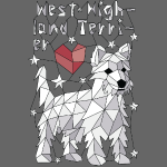 Geometric West Highland Terrier