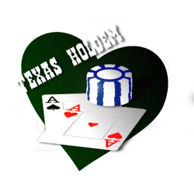 Texas Holdem Chipstack and Aces