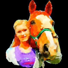 girl wiht horse