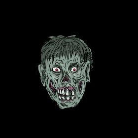 Zombie Skull Head Drawing