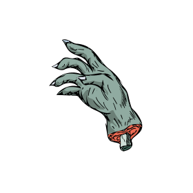 Zombie Monster Hand Drawing
