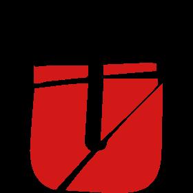 Broken tear splitter logo design cool letters fuck
