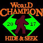 Sasquatch Bigfoot Hide Seek World Champion