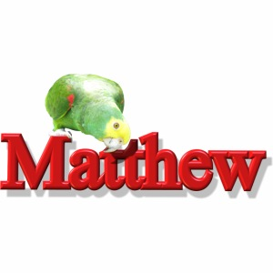 Matthew With a Parrot