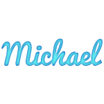 Michael in Blue