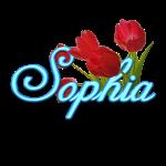 Sophia With Tulips
