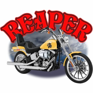 Motorcycle Reaper in Yellow
