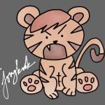 Jongkook Muscle Tiger- White