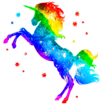 Unicorn rainbow, galaxy, space, cosmic, horse, gay