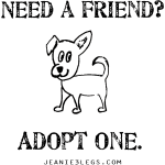 Need a friend, adopt one. Pippa graphic