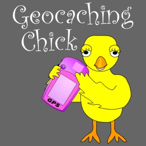 Geocaching Chick White Text