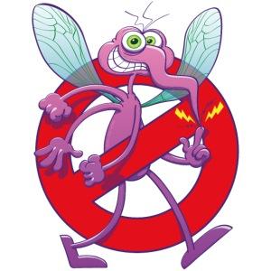 Forbidden mischievous mosquito sign