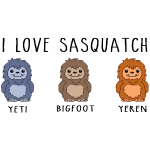 I Love Sasquatch Bigfoot Yeti Yeren Cute Chibi