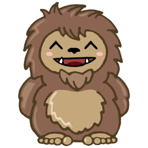 Cute Sasquatch Kawaii Copyright Kathleen Loraine