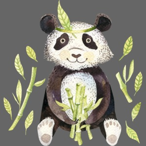 Panda sitting in folage