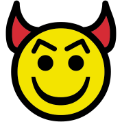 Devil happy face