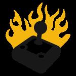 Flaming Joystick