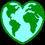Heart shaped globe
