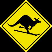 roadsign kangaroo