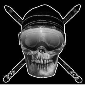 Ski Skull Hi-Res Black