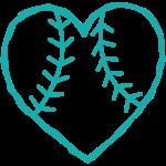 Softball Heart 1-color