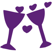 Let's have a toast! (wedding, celebration)