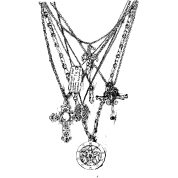 necklace design on t-shirt