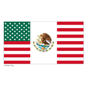 Mexico USA Flag