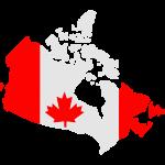 Canada drapeau mappa
